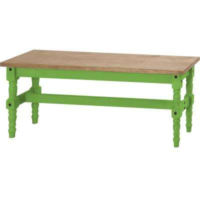 Jay 47.25 in. Green Wash Solid Wood Dining Bench