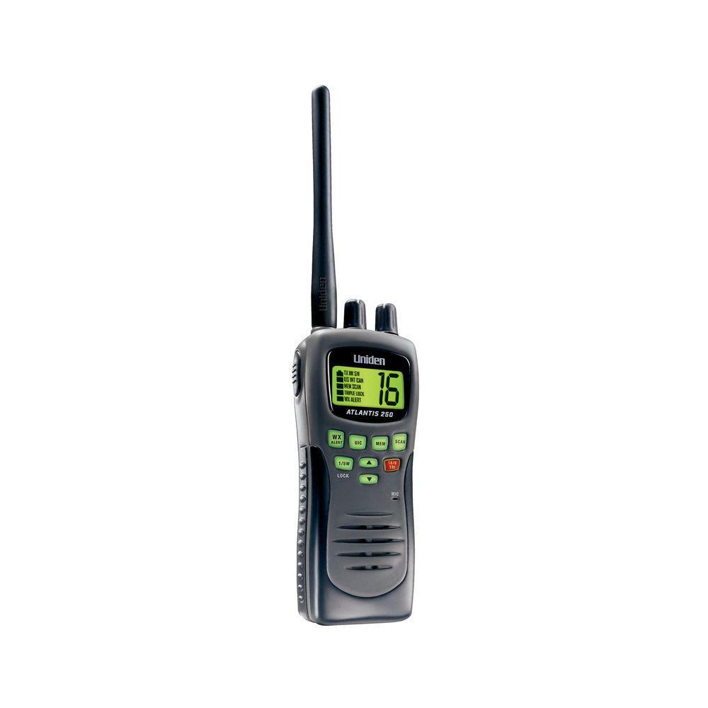 Uniden 8 Mile 88 Channel Handheld 2-Way VHF Marine Radio (Black)