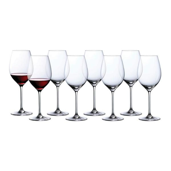 Marquis By Waterford Moments 19 6 Fl Oz Red Wine Glasses Set Set Of 8 40033804 The Home Depot