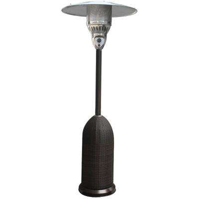 7 ft. 41,000 BTU Black Round Wicker Propane Patio Heater
