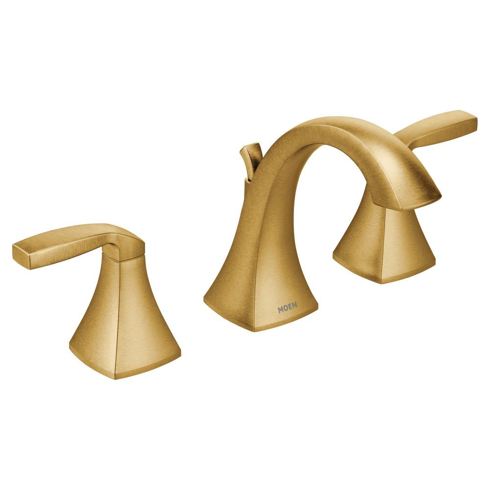 MOEN Voss 8 in. Widespread 2-Handle Bathroom Faucet Trim Kit in Brushed Gold (Valve Not Included)