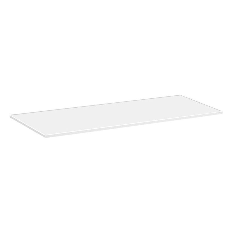Dolle 24 in. x 8 in. x 5/16 in. Line Shelf in White Glass