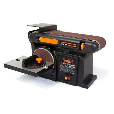 4.3-Amp 4 x 36-Inch Belt and 6-Inch Disc Sander with Cast Iron Base