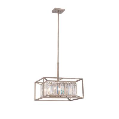 Linares 4-Light Aged Platinum Interior Incandescent Pendant