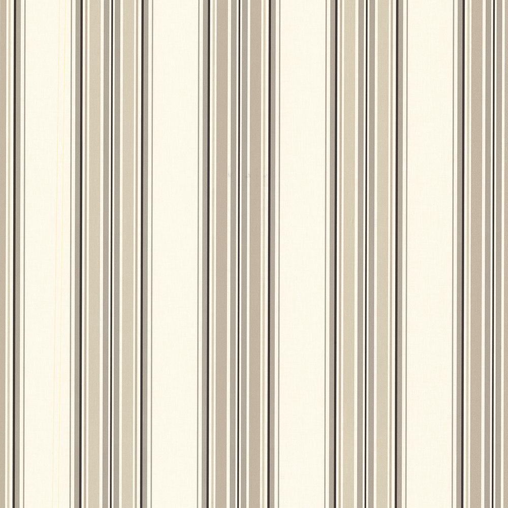 56.4 sq. ft. Marine Khaki Sailor Stripe Wallpaper