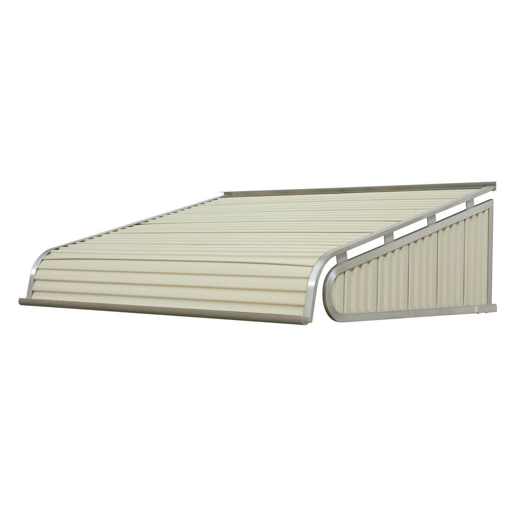 NuImage Awnings 4 ft. 1500 Series Door Canopy Aluminum Awning (12 in. H x 42 in. D) in Almond