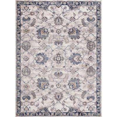 Olympus Mahal Blue Rectangle Indoor 8 ft. x 11 ft. Area Rug