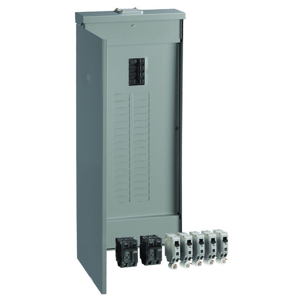 PowerMark Gold 200 Amp 32-Space 40-Circuit Outdoor Main Breaker Value Kit Includes Select Circuit Breakers