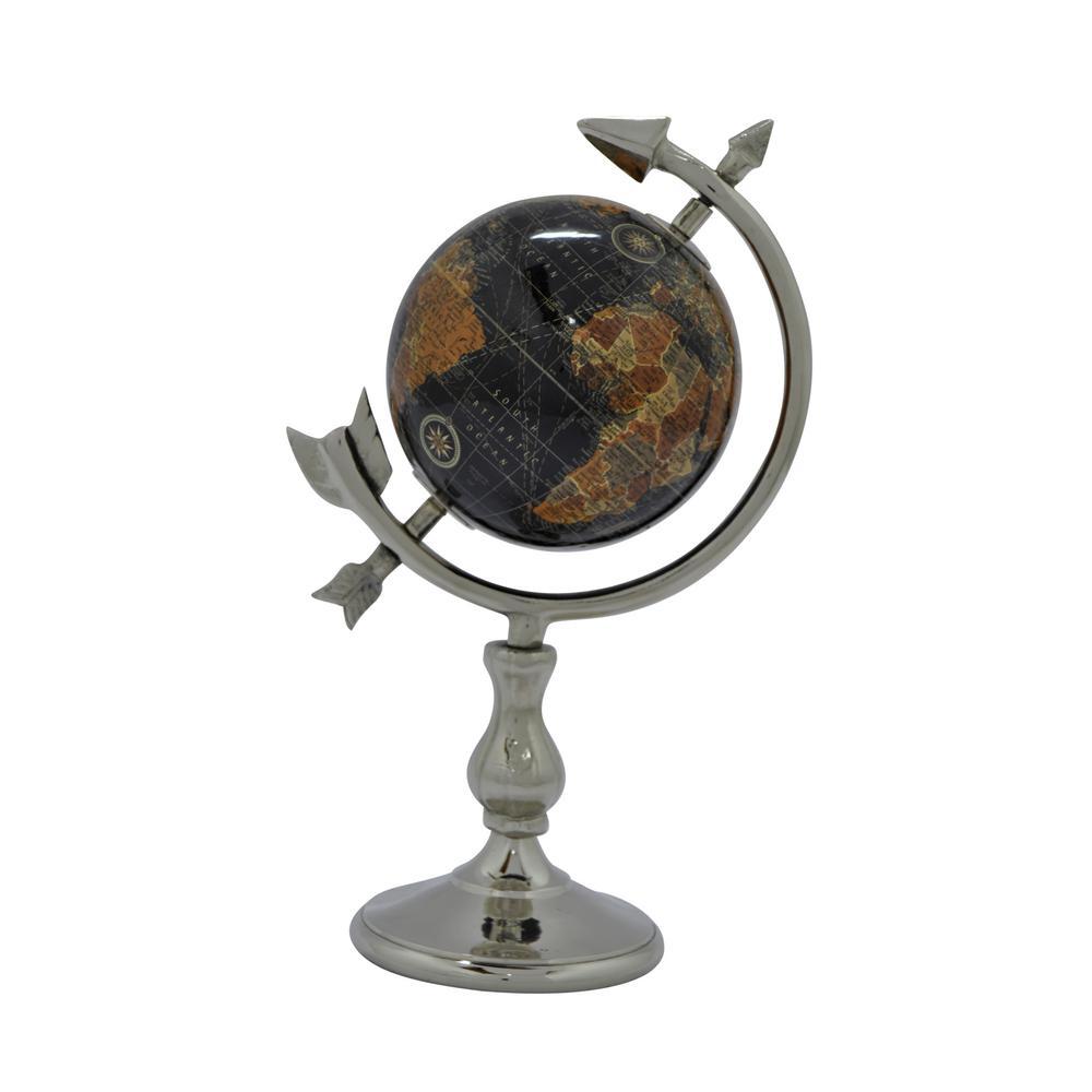 5 in. W Black Globe