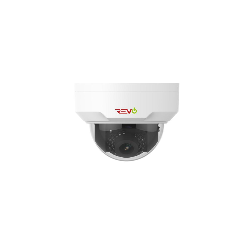 Revo Ultra HD 4 Megapixel Wired CCD IP 1080p Mini Dome Standard Surveillance Camera with Night Vision
