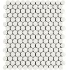 Metro Penny Glossy White 9-3/4 in. x 11-1/2 in. x 6 mm Porcelain Mosaic Tile (8 sq. ft. / case)