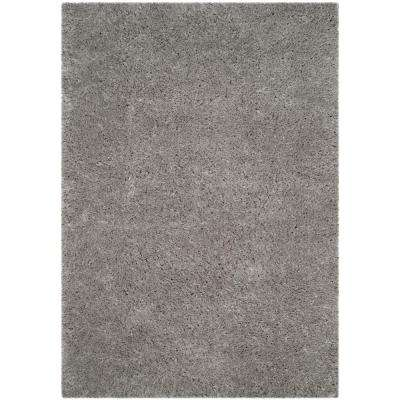 Polar Shag Silver 9 ft. x 12 ft. Area Rug