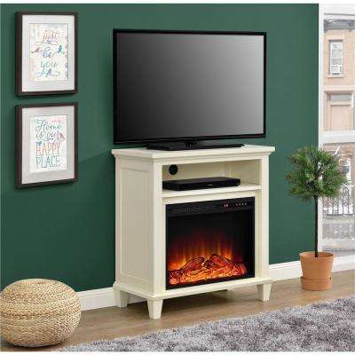 Ellington 32 in. Ivory TV Stand with Electric Fireplace
