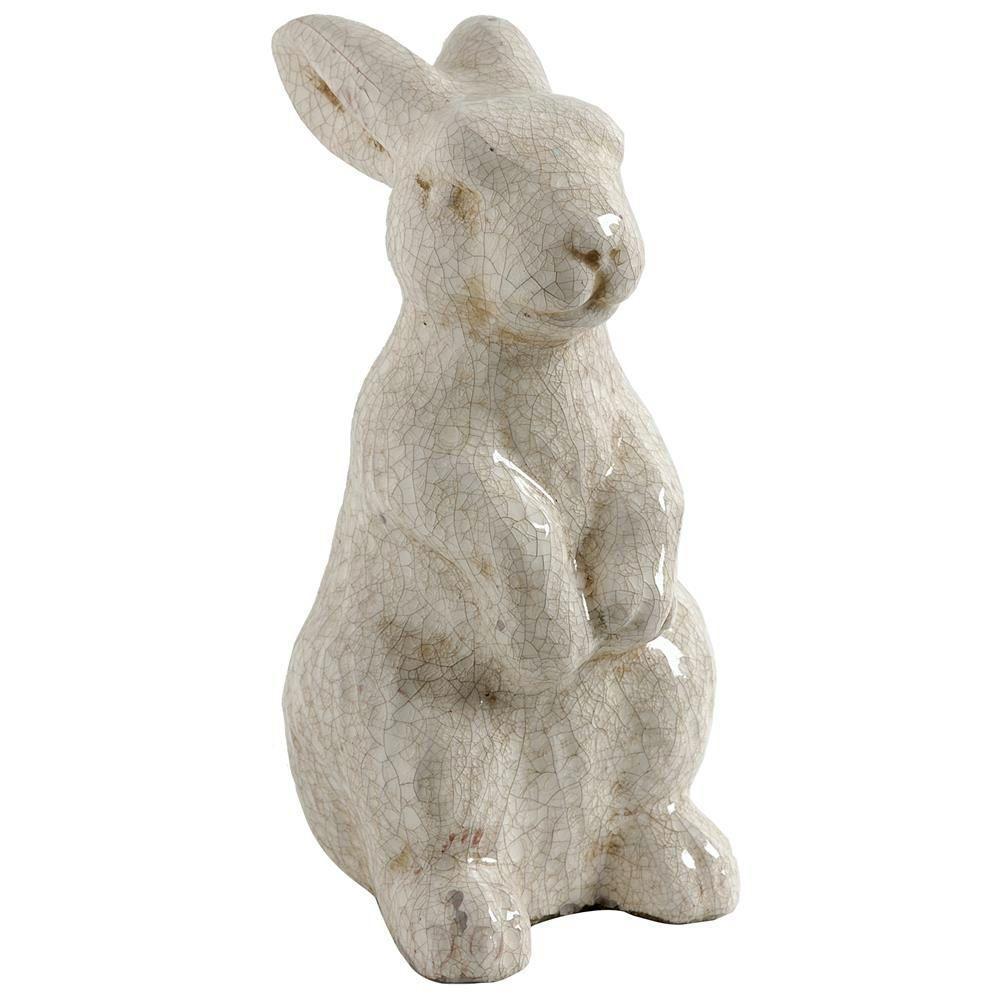 12.5 in. Cream Bailey Standing Rabbit Accent