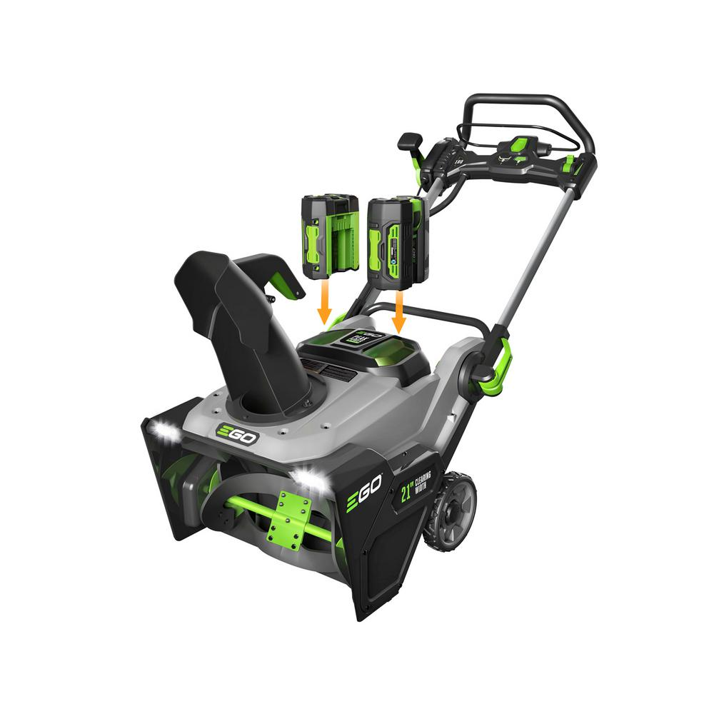 EGO 21 in. 56-Volt Lithium-ion Single-Stage Cordless Electric Snow Blower with Two 7.5Ah Batteries and Charger Included
