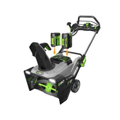 21 in. 56-Volt Lithium-ion Single-Stage Cordless Electric Snow Blower with Two 7.5Ah Batteries and Charger Included