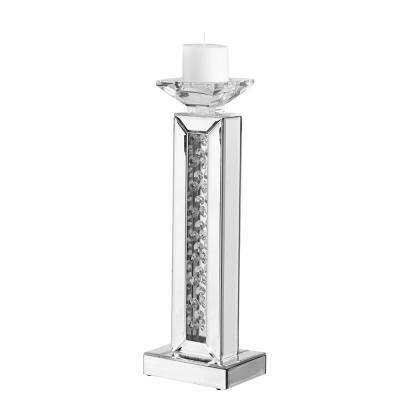 Emory 6 in. Crystal Candle Holder Clear Finish