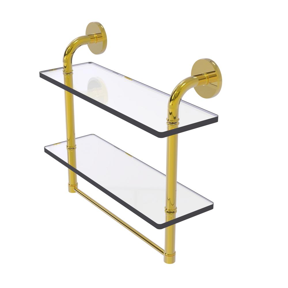 Allied Brass Remi Collection 16 In 2 Tiered Glass Shelf