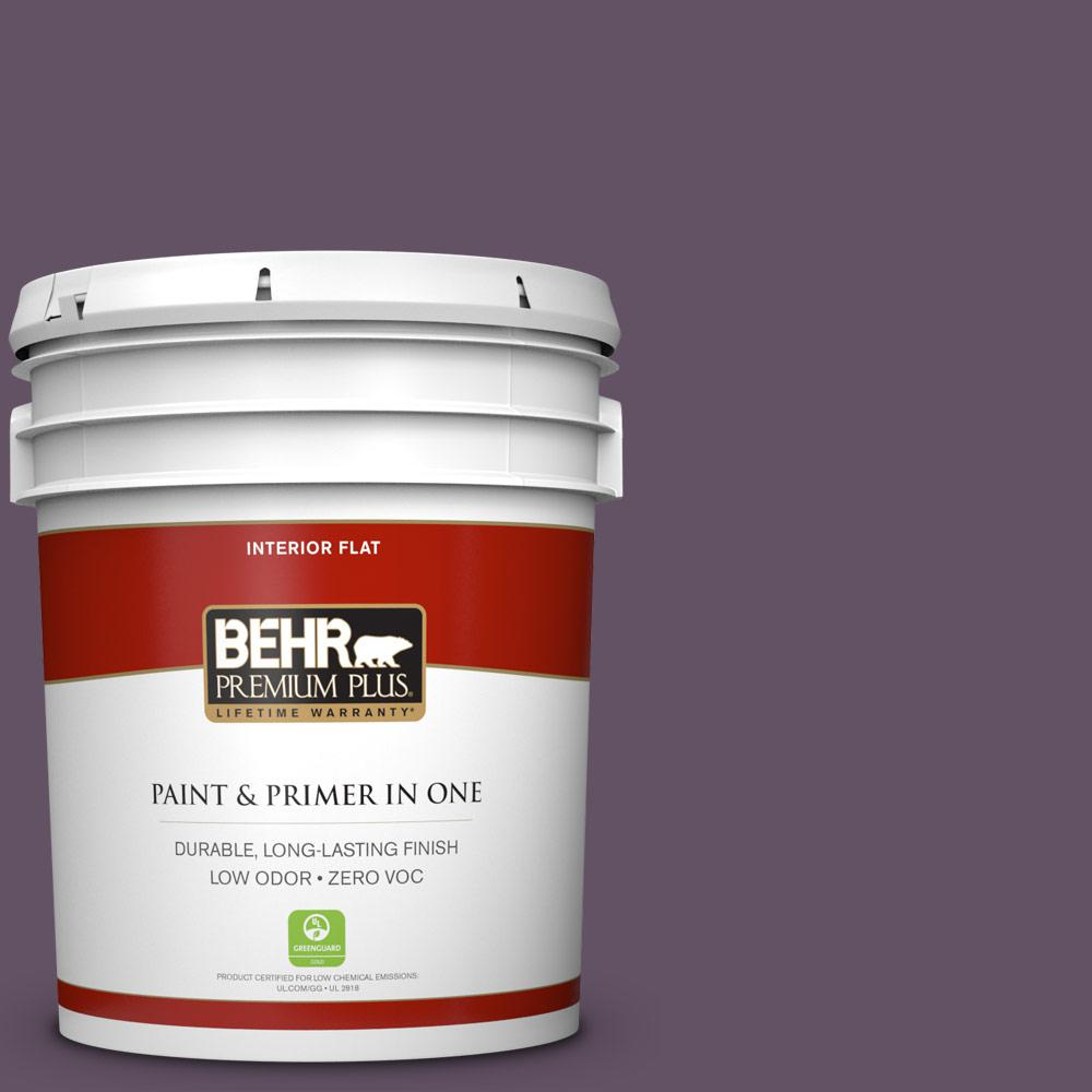5 gal. #HDC-CL-03 Grand Grape Zero VOC Flat Interior Paint