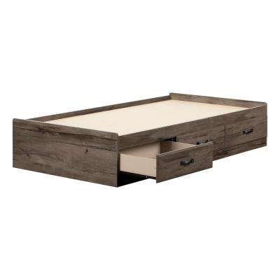 Asten Fall Oak Twin Bed