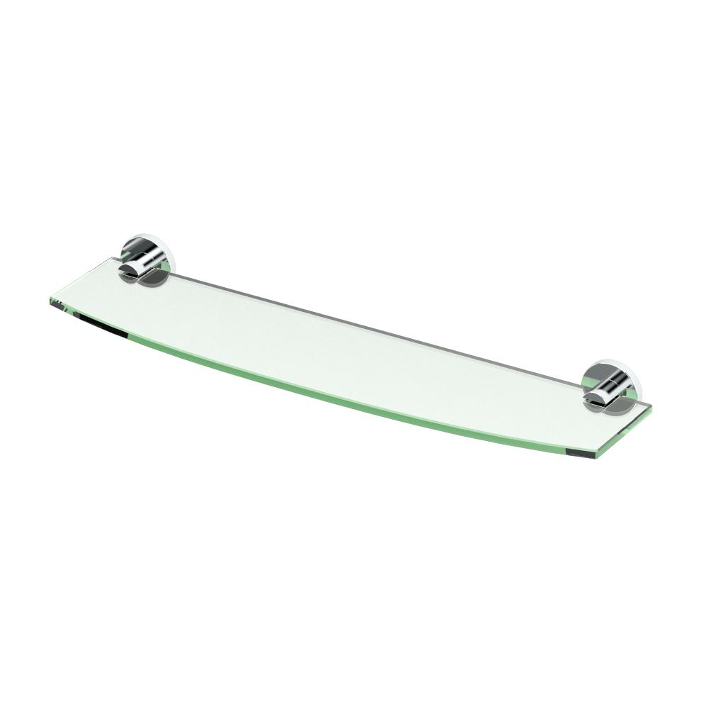 Channel 20.13 in. W Glass Shelf in Chrome