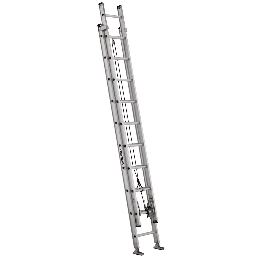 Louisville Ladder 20 ft. Aluminum Extension Ladder with 300 lbs. Load Capacity Type IA Duty Rating