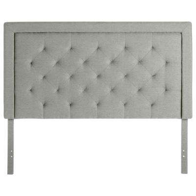 Upholstered Stone Queen Headboard with Diamond Tufting