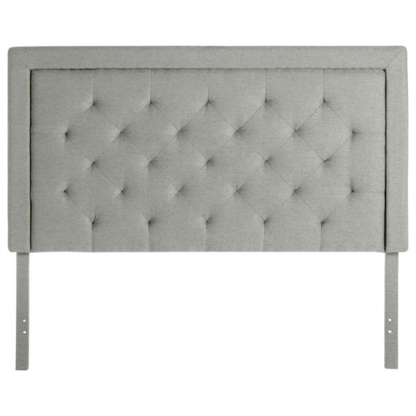 Upholstered Stone King Headboard with Diamond Tufting