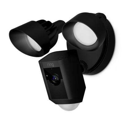 Outdoor Wi-Fi Cam with Motion Activated Floodlight, Black
