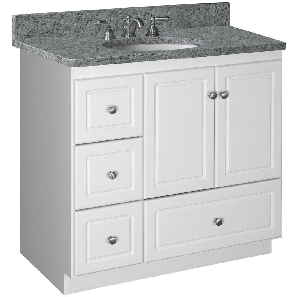 Simplicity by strasser ultraline 36 in w x 21 in d x 34 - Bathroom vanity with drawers on left ...