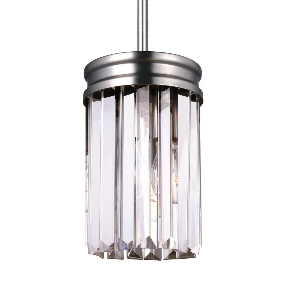Sea Gull Lighting Carondelet 1 Light Antique Brushed Nickel Mini Pendant