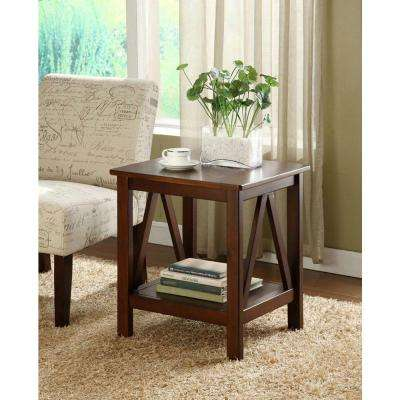 Titian Antique Tobacco End Table