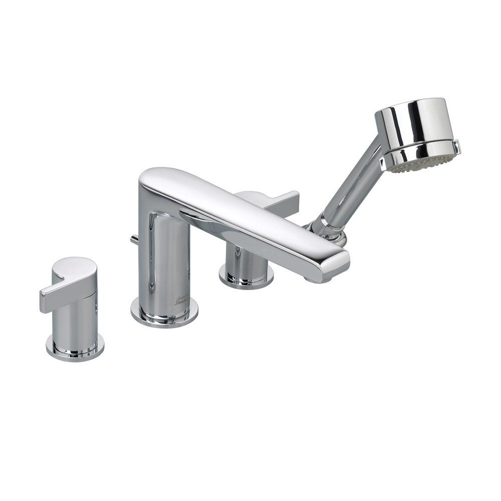 American standard studio 2 handle deck mount roman tub for American standard bathroom faucets reviews