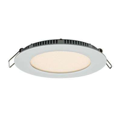 4 in. Recessed Round LED Panel Light with Recessed Integrated LED Kit Color select 3000K 4000K or 5000K White