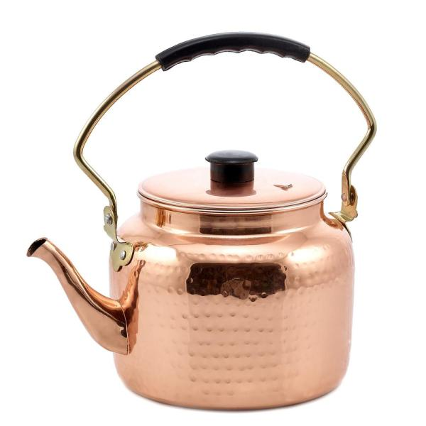 Old Dutch 8-Cup Stovetop Tea Kettle in Copper
