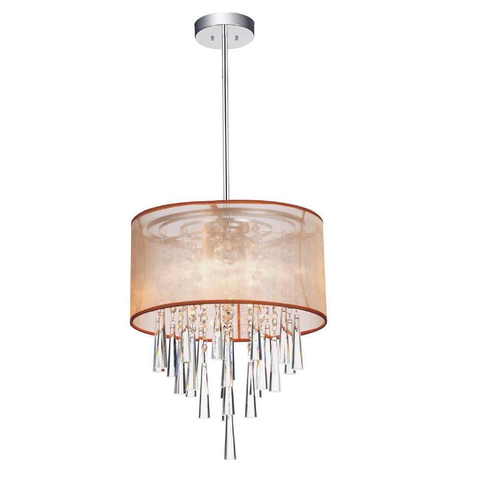 Renee 4-Light Chrome Pendant