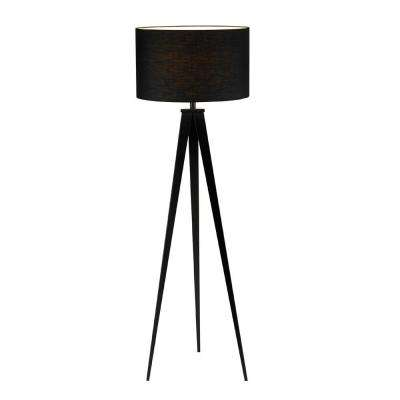 Director 62-1/2 in. Black Floor Lamp