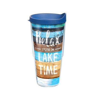 Relax Lake Time 24 oz. Tumbler with Lid