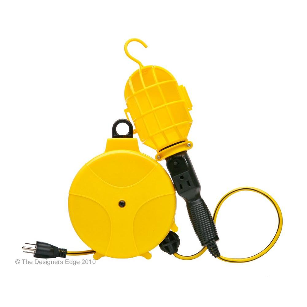 Designers Edge Cord Reels Upc Barcode Retractable Extension Reel W Circuit Breaker 090529622142