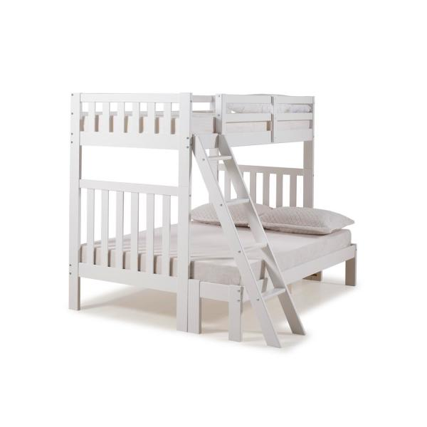 Alaterre Furniture Aurora White Twin Over Full Bunk Bed AJAU01WH