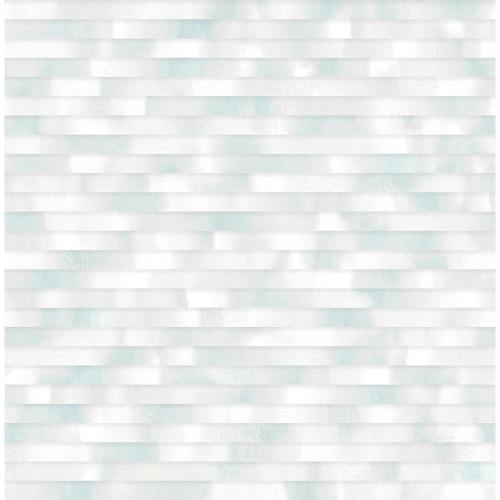 A Street 8 In X 10 In Kalmar Light Blue Hazy Stripe Wallpaper