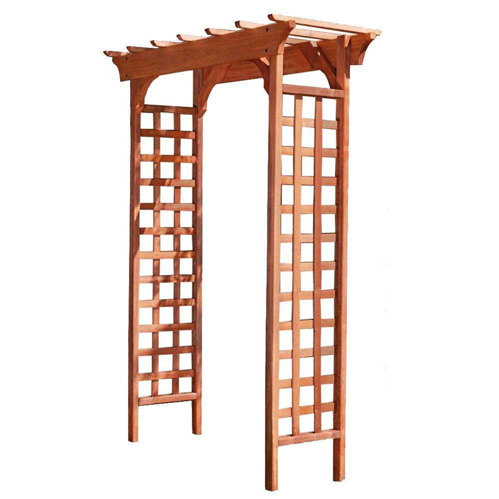 Greenstone Fairchild 84 In. X 61 In. Outside Wood Garden Arbor