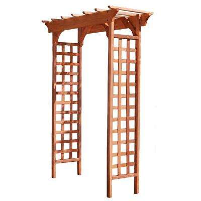Fairchild 84 in. x 61 in. Outside Wood Garden Arbor