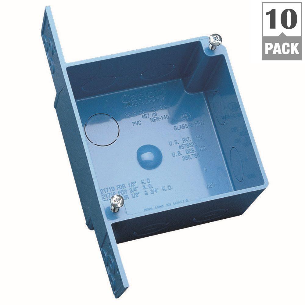 Carlon 4 In Pvc Square Ent Outlet Box 10 Pack A5217de