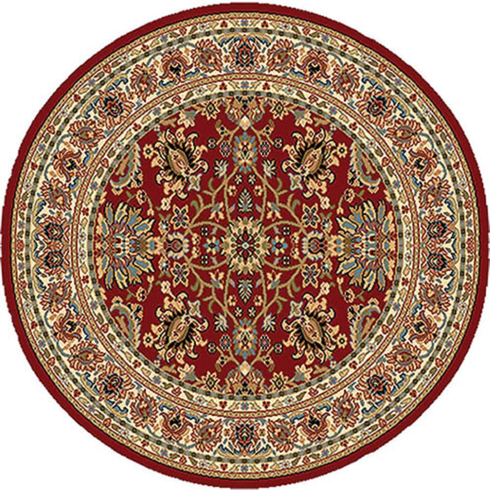 Home Dynamix Royalty Red 5 Ft X 5 Ft Round Indoor Area Rug 6r 8079