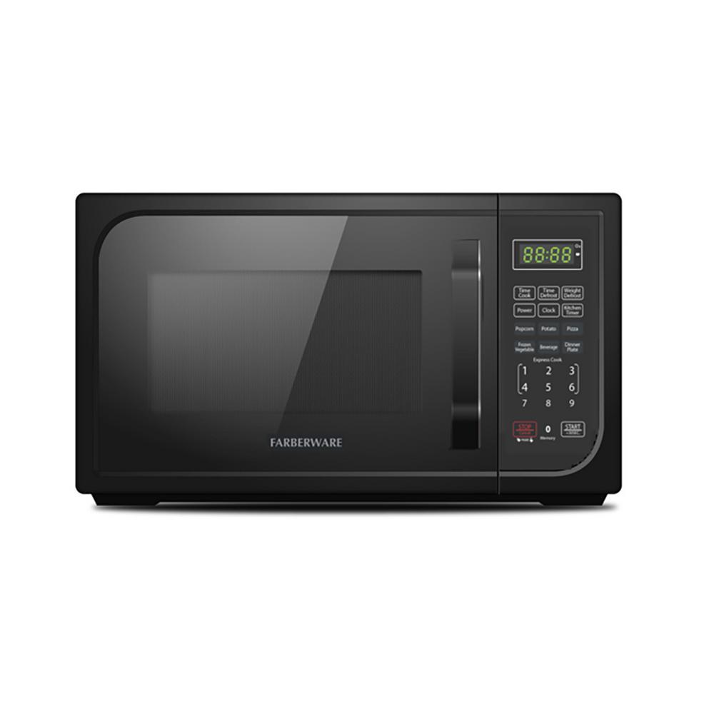 Farberware Classic 0.9 cu. Ft. Countertop Microwave in Black Matte