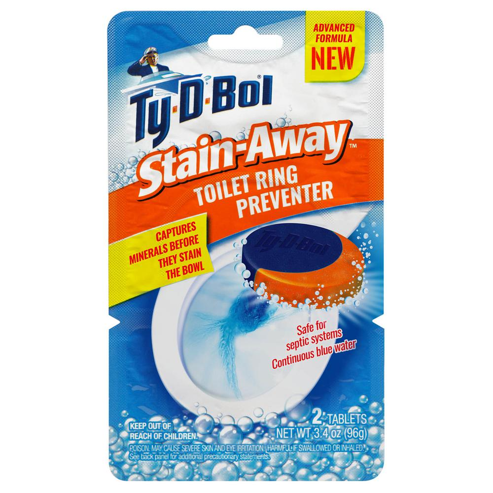 Ty-D-Bol 3.4 oz. Stain Away Toilet Ring Preventer Cleaning Tablets (6-Pack)