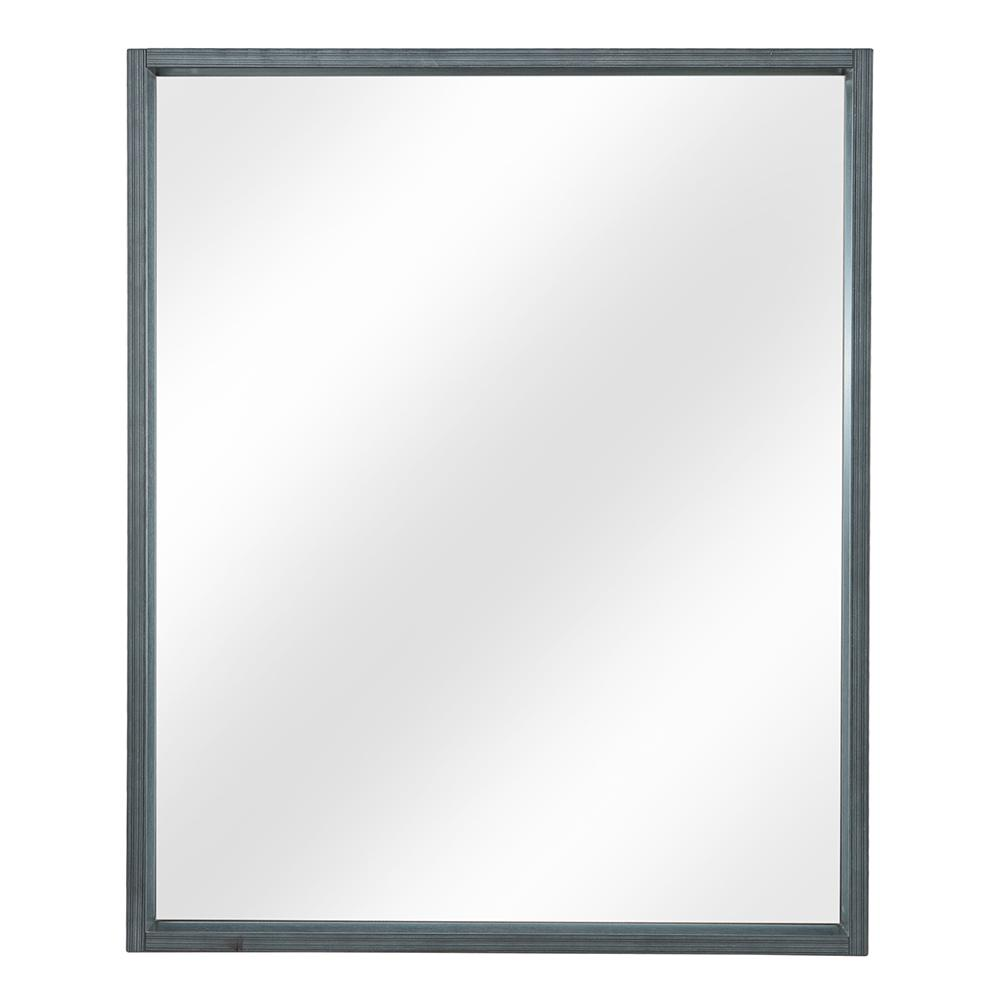 Home Decorators Collection Shiri 26 in. W x 32 in. H Framed Wall Mirror in Charcoal Grey
