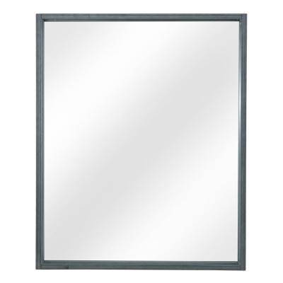 Shiri 26 in. W x 32 in. H Framed Wall Mirror in Charcoal Grey