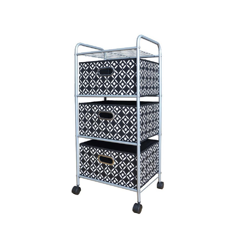 3-Drawer Fabric Cart